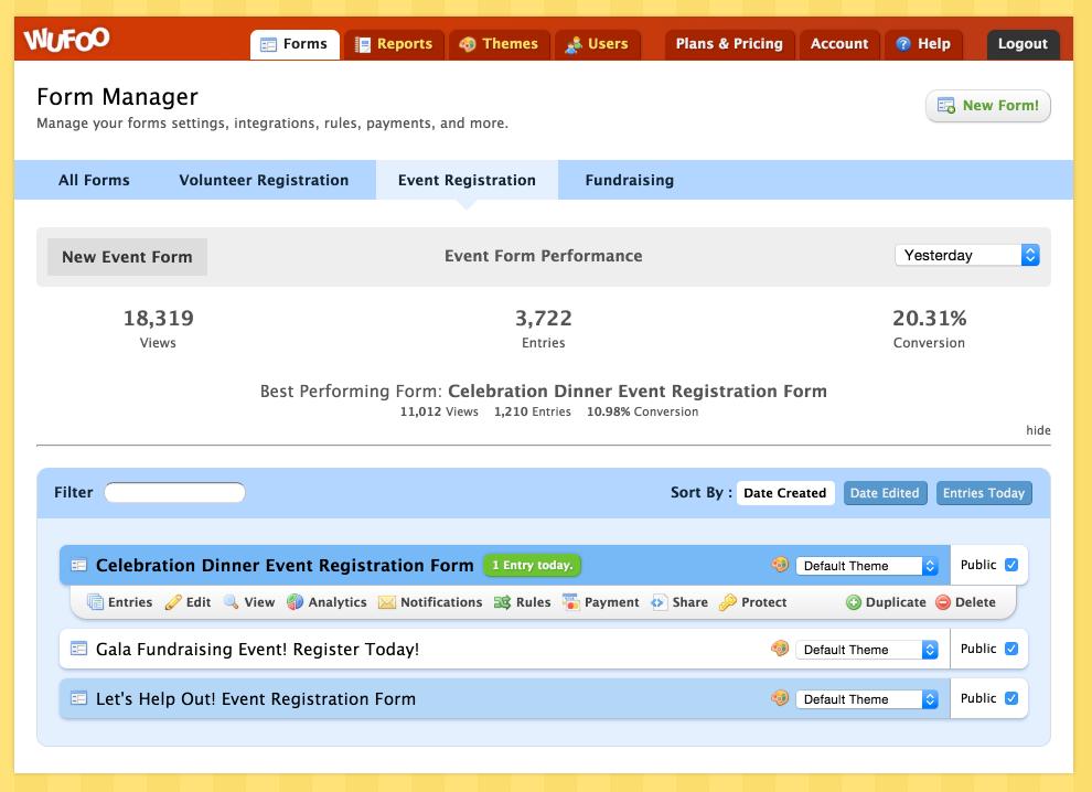 Non-Profit Event Registration & Management